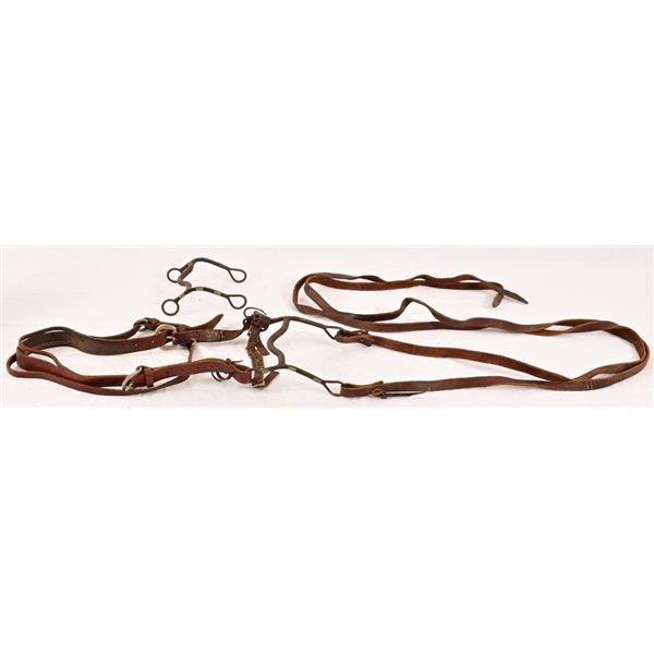 """Vintage Anchor Marked """"North & Judd"""" Bridle & Bits"""