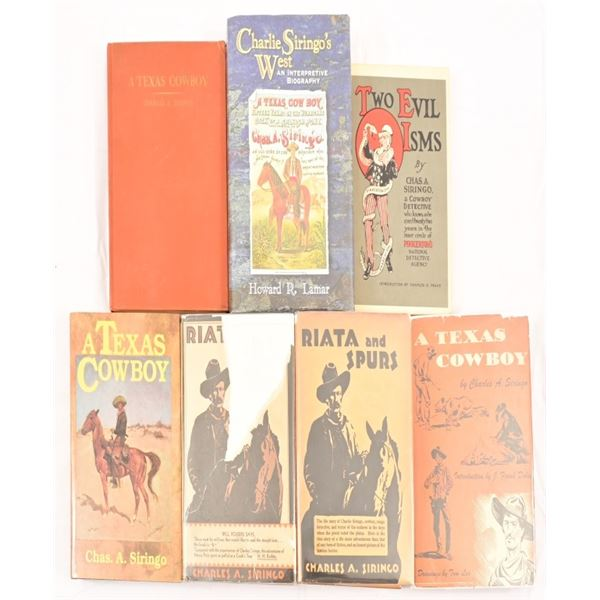 Collection of (7) Charles A. Siringo Novels