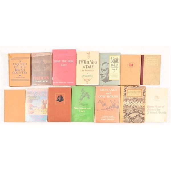 Collection of (14) J. Frank Dobie Novels