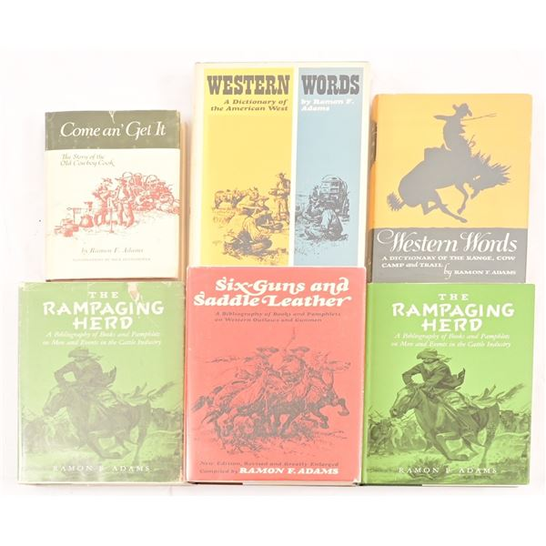Ramon F. Adams Collection of (6) Books