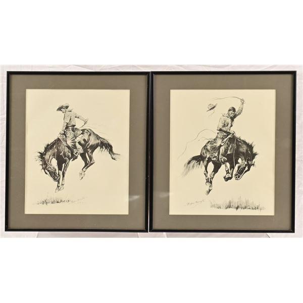 (2) Frederic Remington Prints Framed