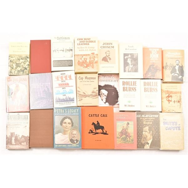 Collection of (23) Books on Famous Cattleman