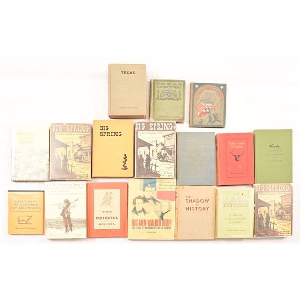 Collection of (17) Texas History Books