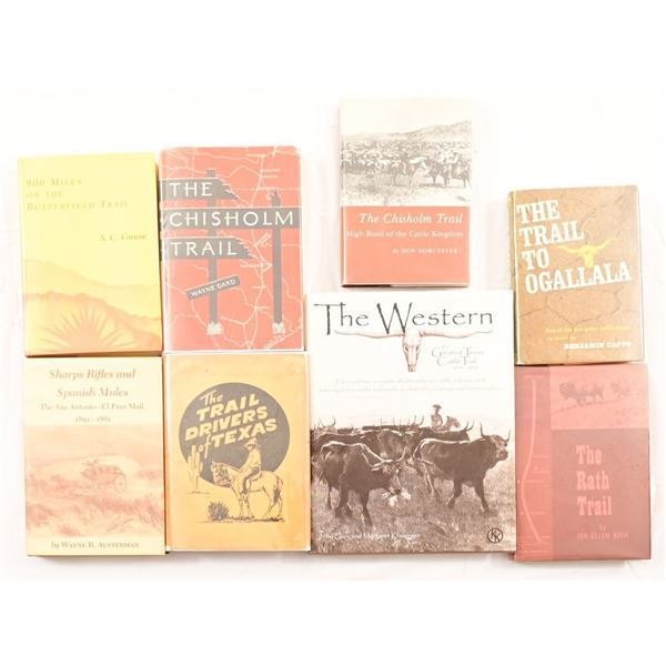 Collection of (8) Books On Famous Cattle Trails