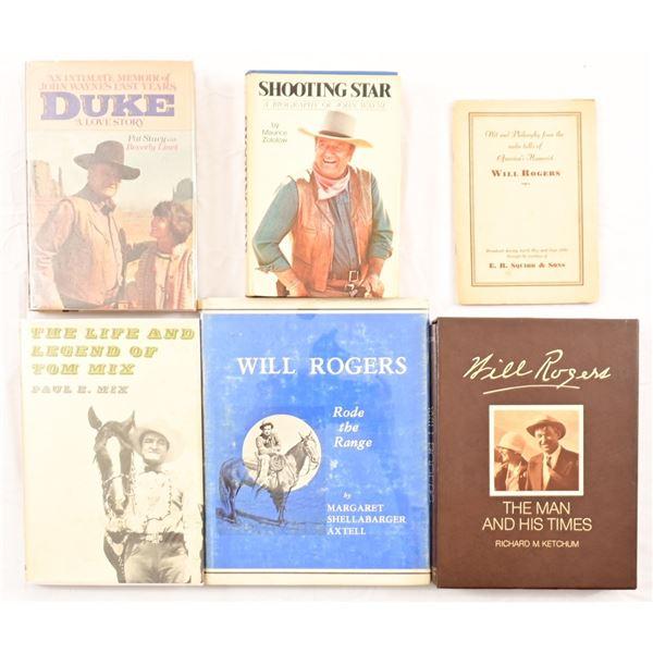 (6) Cowboy Movie Star Biographies