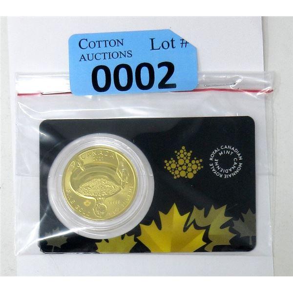 1 Oz .99999 Fine Gold 2021 Klondike Gold Rush Coin