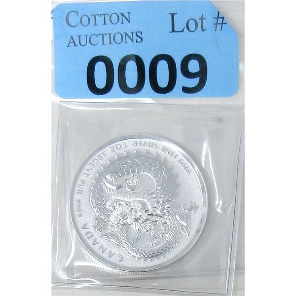 1 Oz. .999 Fine Silver 2019 Dragon Coin