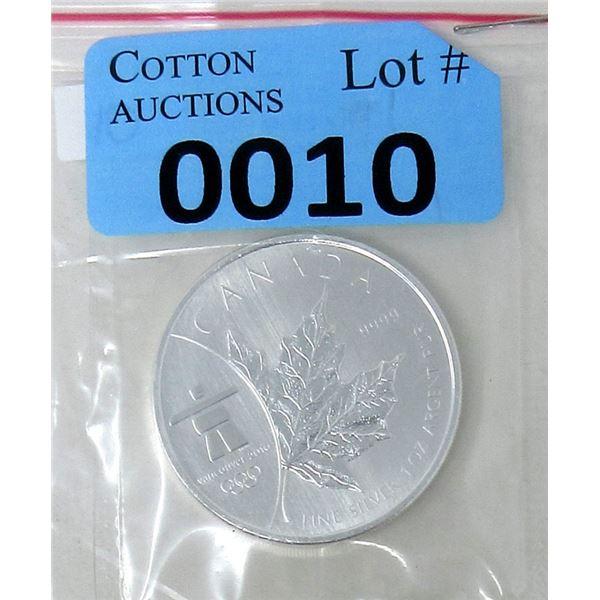 1 Oz .999 Fine Silver 2008 Canada Maple Leaf Coin