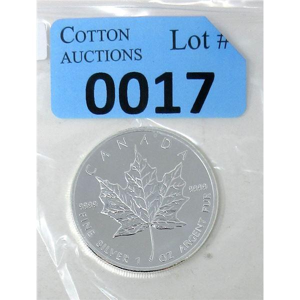 1 Oz .9999 Fine Silver 2013 Canada Maple Leaf Coin