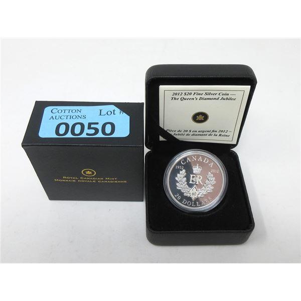 2012 Canada .9999 Silver $20 Coin