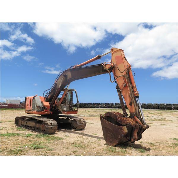 Hitachi 225 Excavator -(Engine Runs Has Major Leaks)