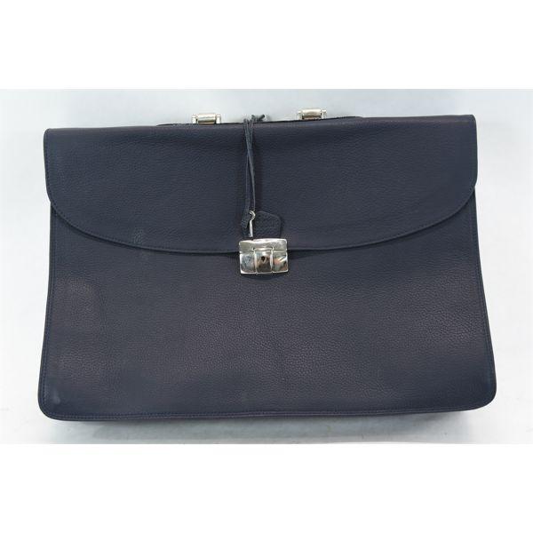 Pasubio Leather Soft Side Briefcase w/ Lock & Key
