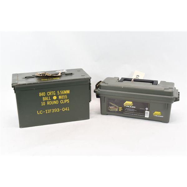 Box Lot Ammunition Cans