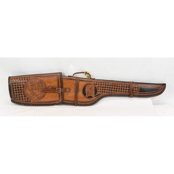 Handtooled Leather Mexican Rifle Scabbard