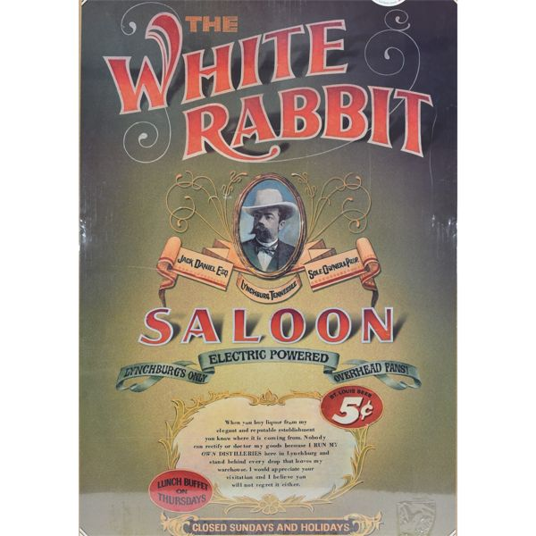 "The White Rabbit Saloon Poster 32""x22.5"""