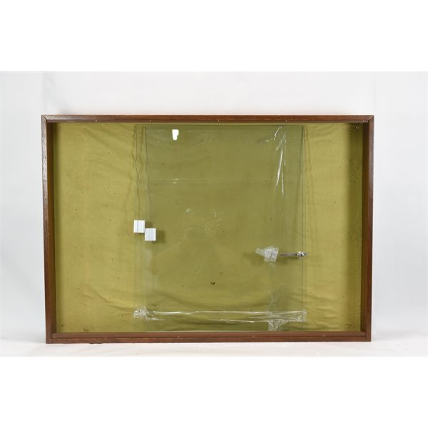 """Wooden Display Case With Sliding Glass Doors 45 3/4"""" x 32"""""""
