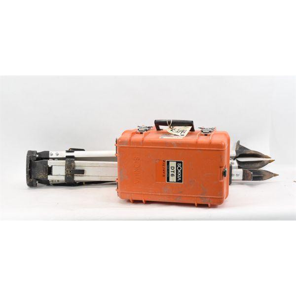 Sokkia Model DT6 Electronic Digital Theodolite & Tripod