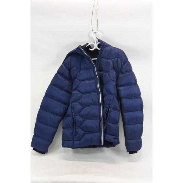 Point Zero Blue Coat Puffer Collection