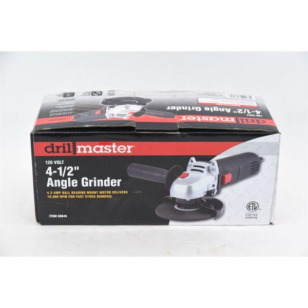 "Drill Master 120 Volt 4-1/2"" Angle Grinder"