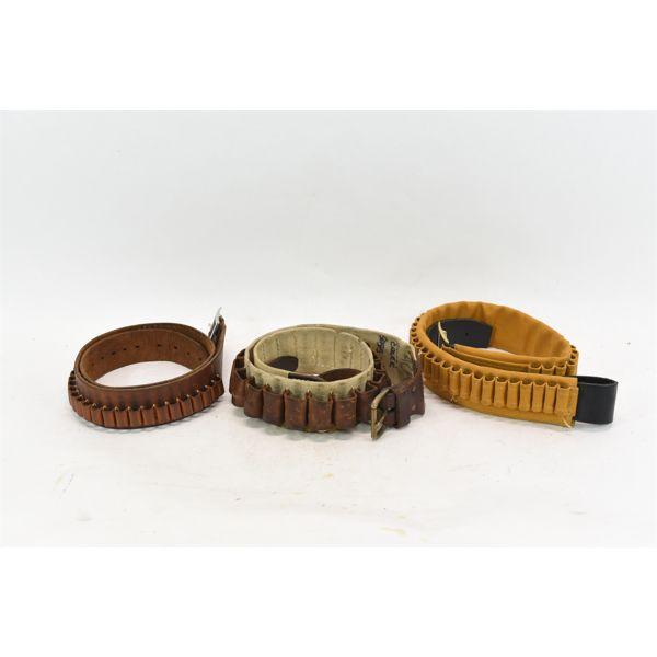 3 Assorted Shell Holder Belts