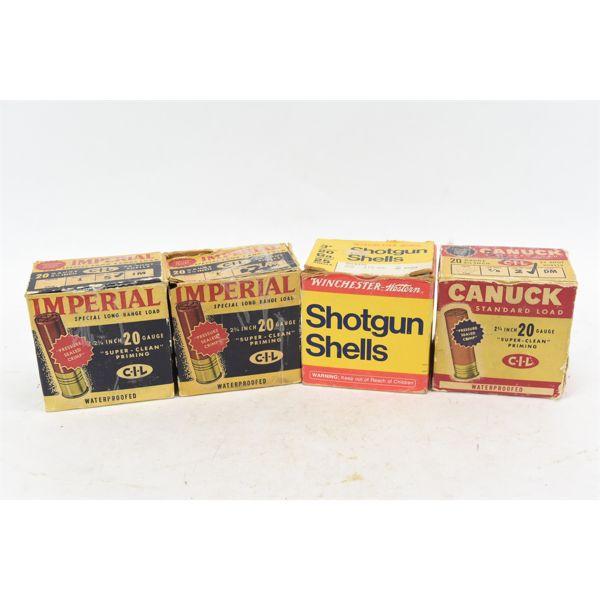 Assorted 20 Gauge Shotgun Shells Various Manufacturers