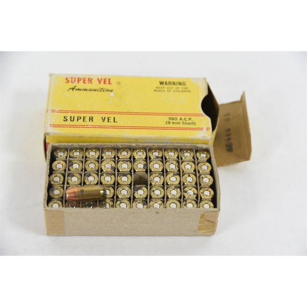 50 Rounds Super Vel 380 ACP 88 Grain Jacketed Hollow Points