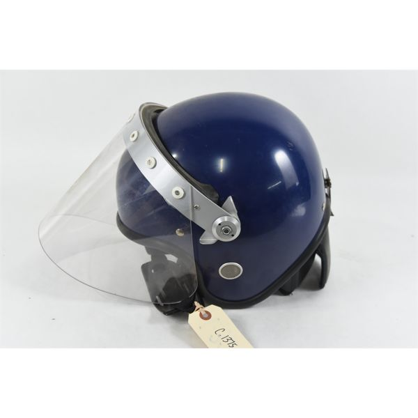 Blue Helmet w/ Face Shield Size 62-63cm