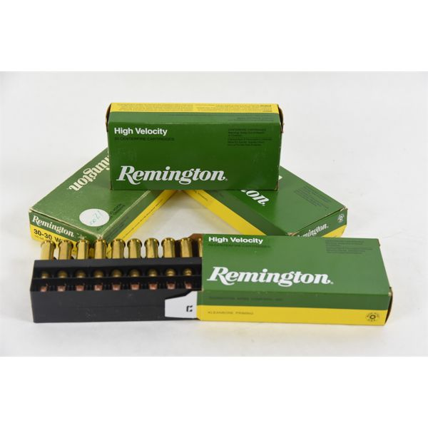 80 Rounds Mixed Brand 30-30 Win in Remington Boxes