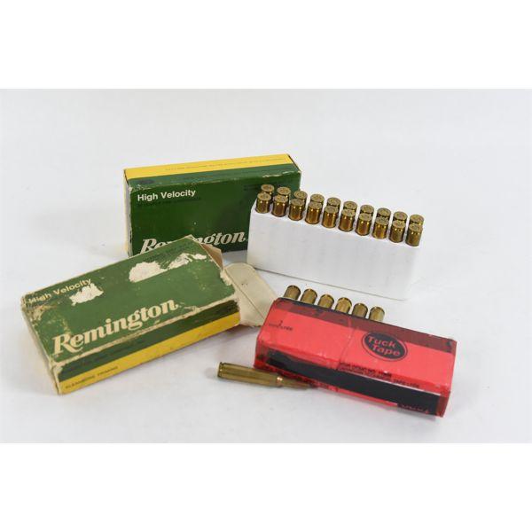 20 Rounds Remington 22-250 55 Grain Soft Point & 14 Rounds Remington 6mm Rem