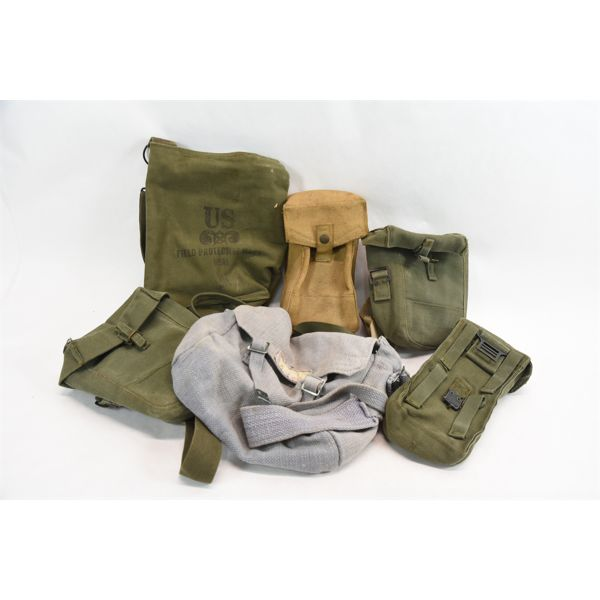Box Lot 7 Military Style Canvas Bags