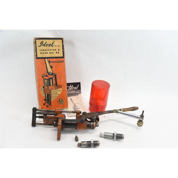 Lyman Ideal Lubricator & Sizer No.45 & Lee Precision 2-Piece Die Set LEE-35R-86