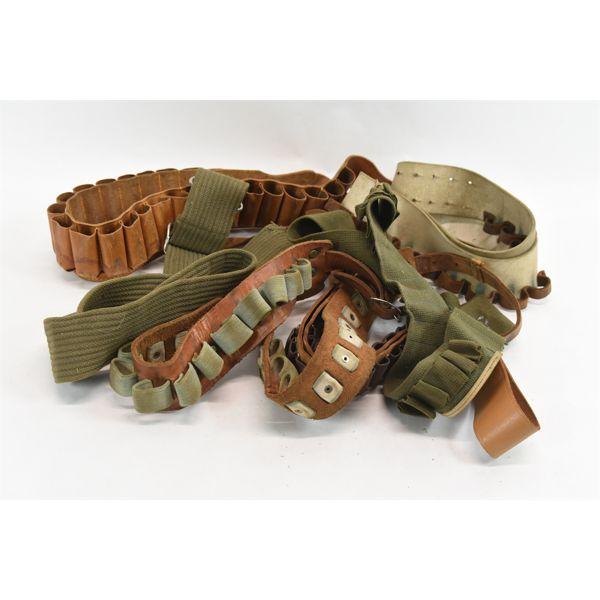 Box Lot Shell/Cartridge Belts