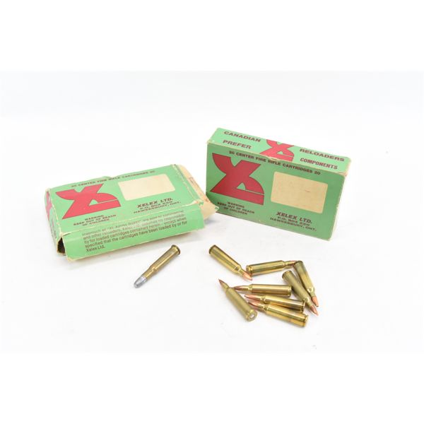 30 Rounds 30-30 Win, 10 Pieces 30-30 Brass & 8 Rounds 22-250 Rem