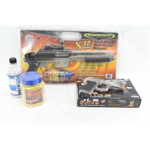 Box Lot Air Soft Guns & Accessories