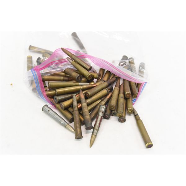54 Assorted Rifle Rounds & Snap Caps