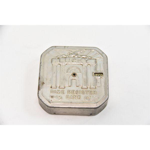 Vintage Lucky Dime Register Bank