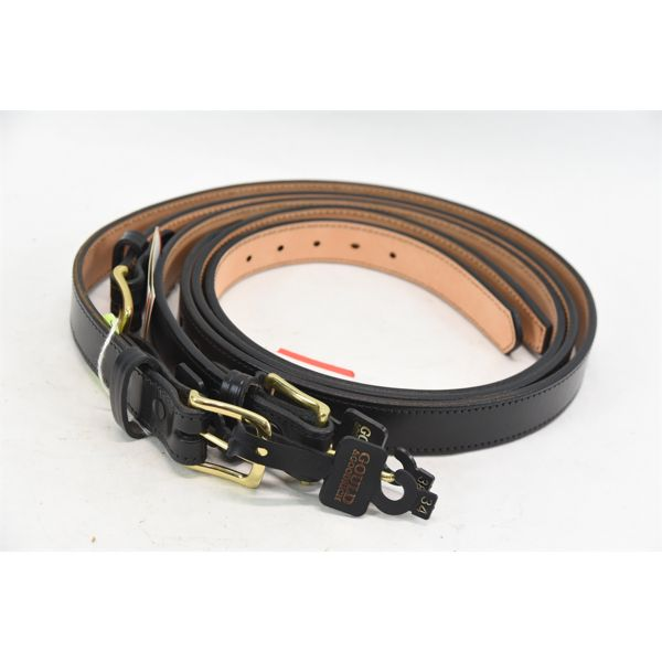 3 Gould & Goodrich Leather Belts
