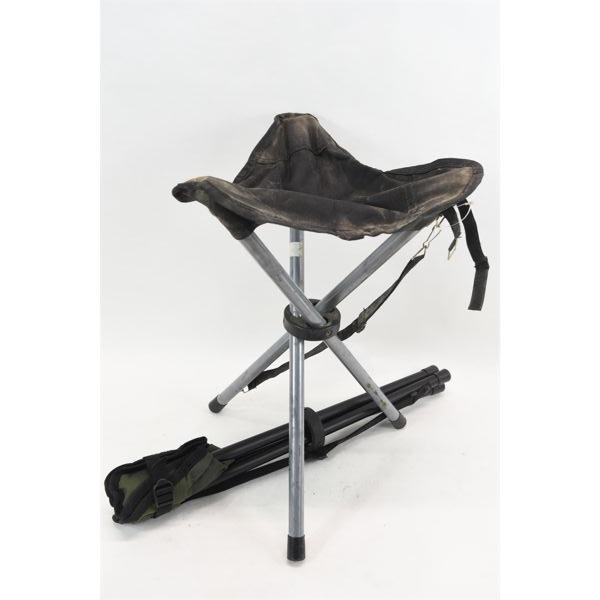 2 Folding 3-Legged Chairs