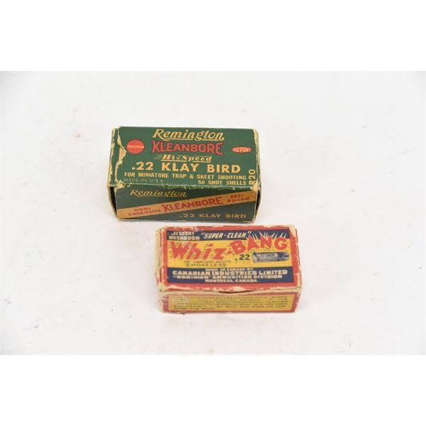 Box Lot Vintage 22 Cal Ammunition