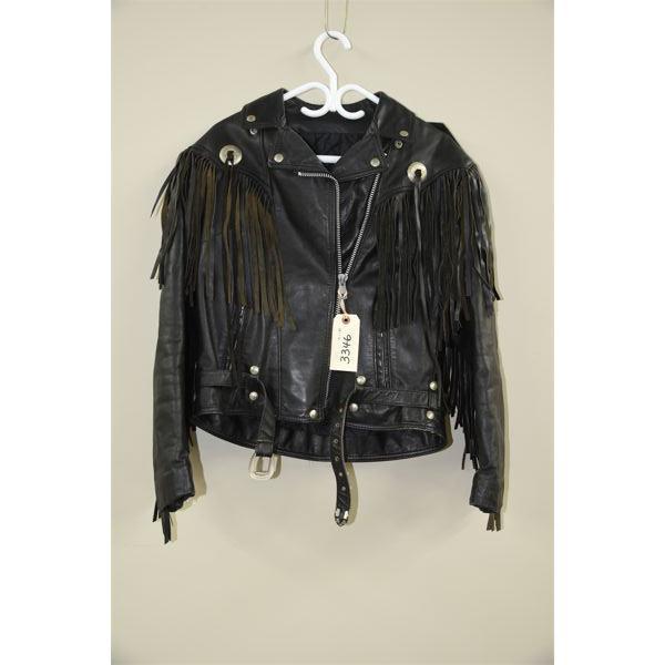 Ladies' Vintage 80's Bristol Leather Fringed Biker Jacket