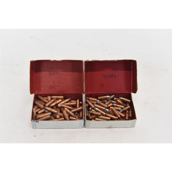 69 Pieces Winchester-Western .25 Cal 100 Grain Projectiles, 56 Pieces Pointed Silvertip