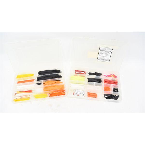 2 Plastic Organizers w/ Arrow Fletching Kits