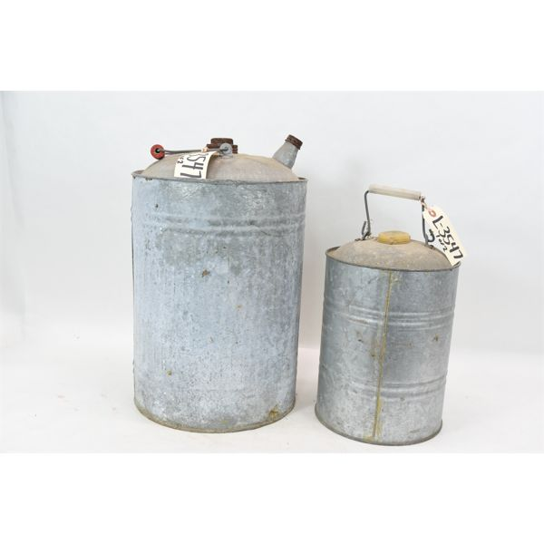 Box Lot Vintage Galvanized Fuel/Oil Can