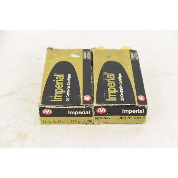 Imperial .32 Winchester Special 9 Rounds & 30 Pieces Brass