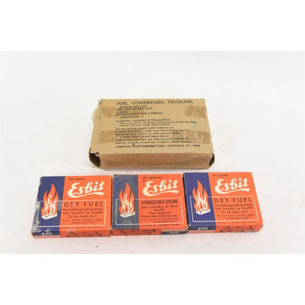 3 Packages Solid Heating & Cooking Fuel