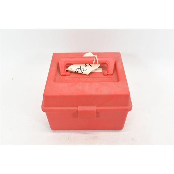 Plastic Ammo Box w/ 90 Rounds Reloads .308 Winchester