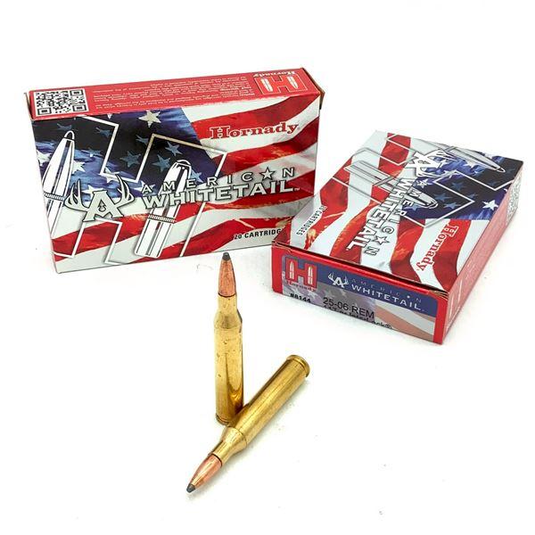 Hornady American Whitetail 25-06 Rem 117 Gr Interlock Ammunition, 22 Rounds