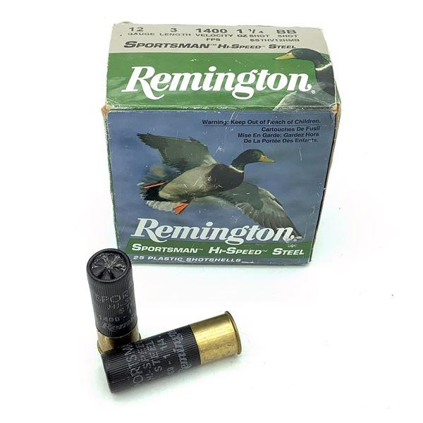 "Remington Sportsman Hi Speed Steel 12 Ga 3"" BB Ammunition, 22 Rounds"