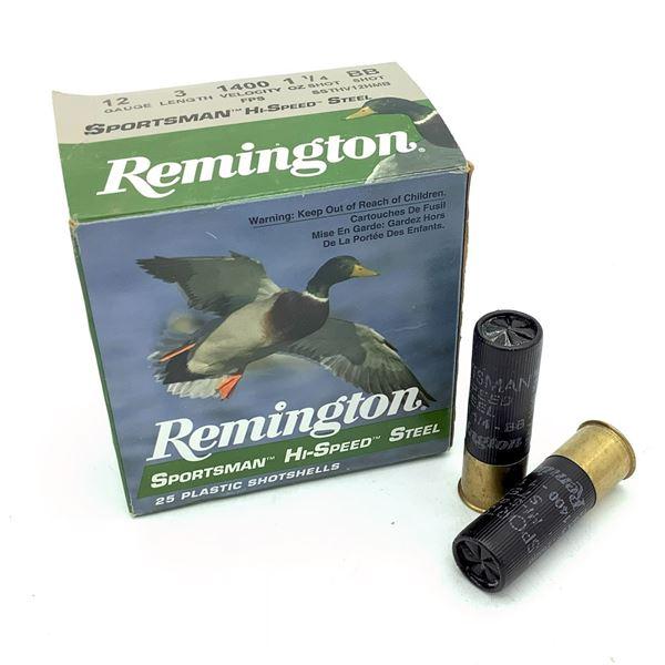 "Remington Sportsman Hi Speed Steel 12 Ga 3"" BB Ammunition, 25 Rounds"
