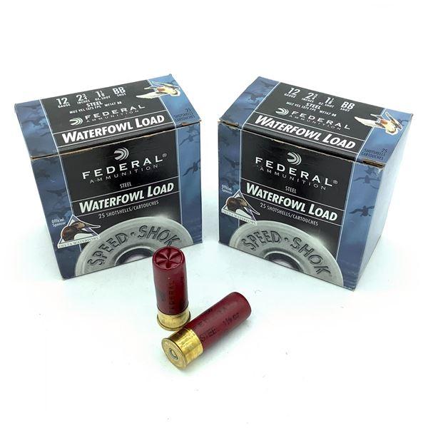 "Federal Waterfowl 12 Ga 2 3/4"" BB Ammunition, 50 Rounds"
